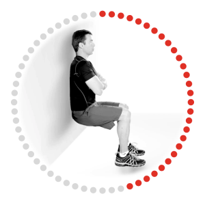 Wall Sit Exercise Image